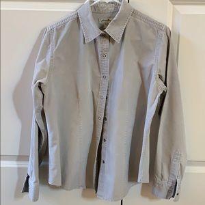 Eddie Bauer Baby Corduroy Shirt Grey baby cord  M